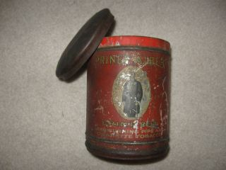 King Edwards Tobacco Tin Large Round Top Lid Way Old
