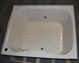 4860 DROP IN AIR JETTED BATH TUB   BONE BATHTUB / 32 AIR JETS