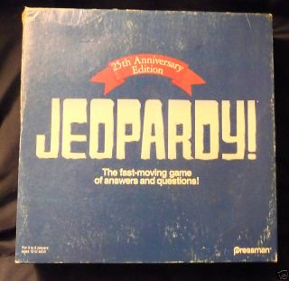 Jeopardy TV Game Show Board Game Complete 1990 25th Ann