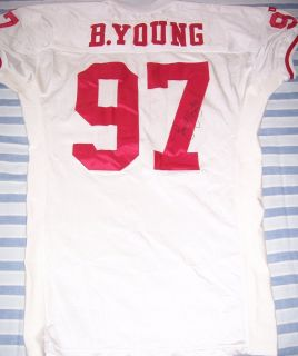 Signed San Francisco 49ers 1995 Game Worn Jersey Team Letter