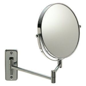 Jerdon Chrome Finish Mirror Wall Mount Magnifying Extending Swivel