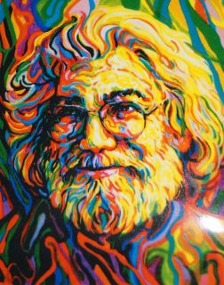 Grateful Dead Jerry Garcia Sticker 5 x 4 New