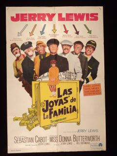 The Family Jewels Jerry Lewis Argentine 1sh Poster