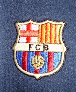 Barcelona Navy Blue Orange Soccer Jersey Mens Small
