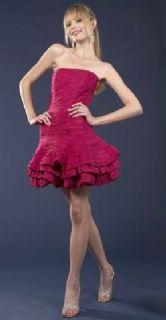 Jessica McClintock 54435 Fuchsia Taffeta Dress 4