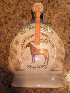 Vintage 1969 collectible Jim beam decanter Horse Kentucky derby