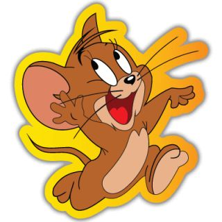 Tom and Jerry Mouse Car Bumper Sticker Decal 4X4
