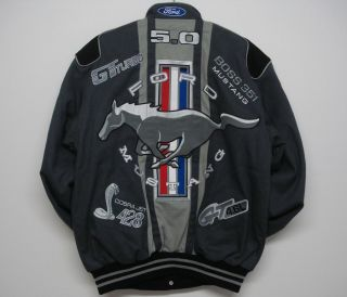 NASCAR Ford Mustang Racing Cotton Grey Jacket XXXL
