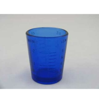 Decorative Glass Cobalt Blue 1 oz Medicine Measuring Cup Jigger