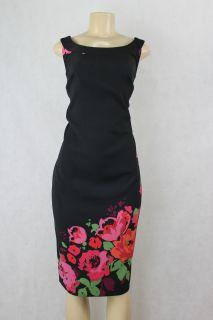 Jessica Howard Women Dress Sleeveless Black Flower Print Size 22W