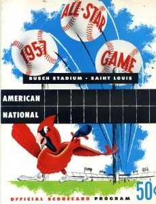 3014. 1957 Baseball All Star Game Program at Busch Stadium, St. Louis