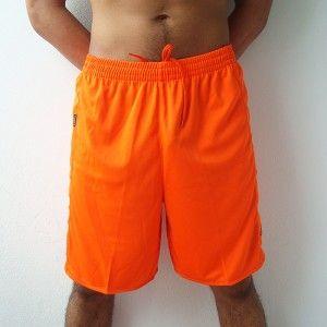 Kappa Mens Football Soccer Jersey Shorts Orange M L XL