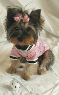 Hip Doggie Pink Dog Sports Jersey 7 Shirt Small