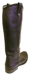 Frye Melissa Button Pull on Leather Cowboy Boots 6 New