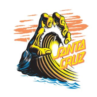 Santa Cruz Wave Hand Decal 6 Skateboard Sticker