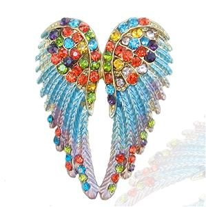18K Gold GP Angel Wing Brooch Pin Multi Swarovski Crystal 10 Items