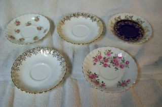 ROYAL ALBERT Bone China England Saucer Set Regal Forget Me Not Rose