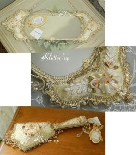Victorian Vintage Jewelry Shoe Ring Holder Ivory Lace