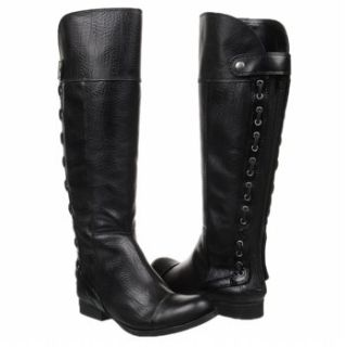 Jessica Simpson Bombai Women Tall Leather Black Boots 7 5 Jeffrey