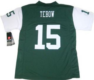 NFL Players 2012 New York Jets Tim Tebow 15 Youth Green Jersey