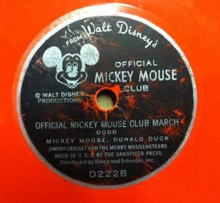 1955 JIMMIE DODD official mickey mouse club song & march 6 VG D222