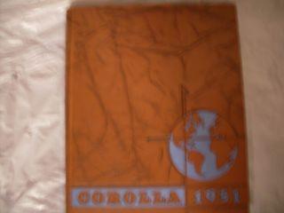 1951 University of Alabama Yearbook Corolla Jim Nabors