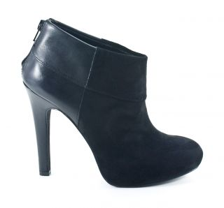 Jessica Simpson Audriana Black Suede Leather Boots Shoes 8 New