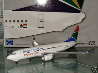 Aviation 200 South African Airways Boeing 737 800