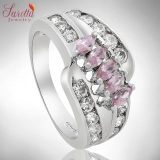 35 Off Fashion Jewelry Round Marquise Cut Pink Sapphire Ring Jewellery