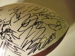 2012 13 BALTIMORE RAVENS Team Signed Logo Football RAY LEWIS, RICE, ED