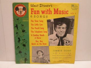 Mickey Mouse Club   Colored 78 RPM Record   Jimmie Dodd & Mouseketeers