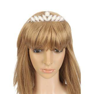 Fashion Jewelry Tiara Sunflower Style Man Made Pearl Rhinestone Crown