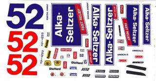 52 Jimmy Means Alka Seltzer 1 64th HO Scale Scale Slot Car Decals