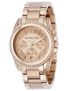 Brand New Michael Kors Ladies Rosegold Crystals Chrono MK5263 Watch