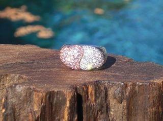 Swoon $4 5K 18WG Pink Sapphire Diamond Dbl Heart Ring