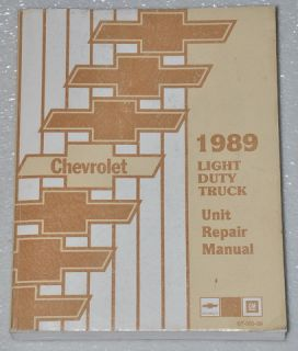 1989 Chevy Truck Van C K 1500 2500 3500 Blazer Suburban Jimmy Unit