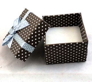 Gift Package Box Ring Earrings Cubic Jewelry Boxes 5x5x3cm BX25