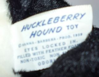 Vintage Huckleberry Hound plush MR JINKS rubber face stuffed Doll 11