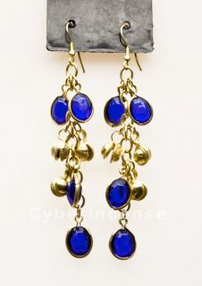 Earrings Silver Tone Gold Tone White Metal with Beads Dangle Style