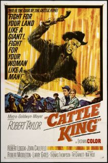 Cattle King 1963 Original U s One Sheet Movie Poster