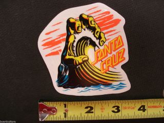 New Santa Cruz Skateboards Hand Wave Sticker by Jim Phillips 3 5x3