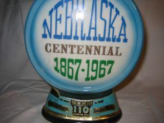 Antique 1967 Jim Beam Decanter Nebraska Centennial 1867 1967