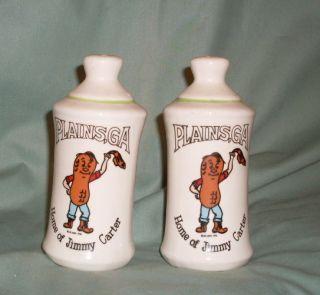 Plains GA Home of Jimmy Carter Salt Pepper Shakers