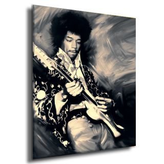 Jimi Hendrix Concert Guitar CD Painting Canvas Art Giclee Print A