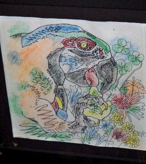 Jiang Tiefeng Acrylic Rice Paper Bird Paradise Signed