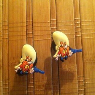 Shoe Charms Fit Crocs Jibbitz Set of 2 Yosemite Sam Looney Tunes