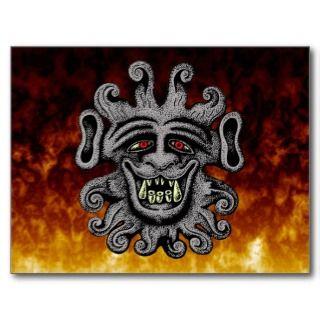 Demon Door Knocker Postcards