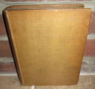 Novellieri Italiani 12 Stories Percy Pinkerton Ex 1st Ed HC 1895