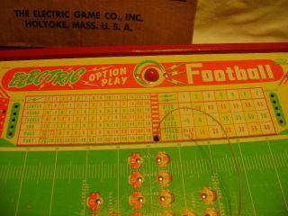 Vintage Jim Prentice Electric Football Game Original Box 1950s 60s Toy