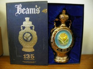 1978 Jim Beam Yellow Rose of Texas Liquor Decanter 135 Months w Box